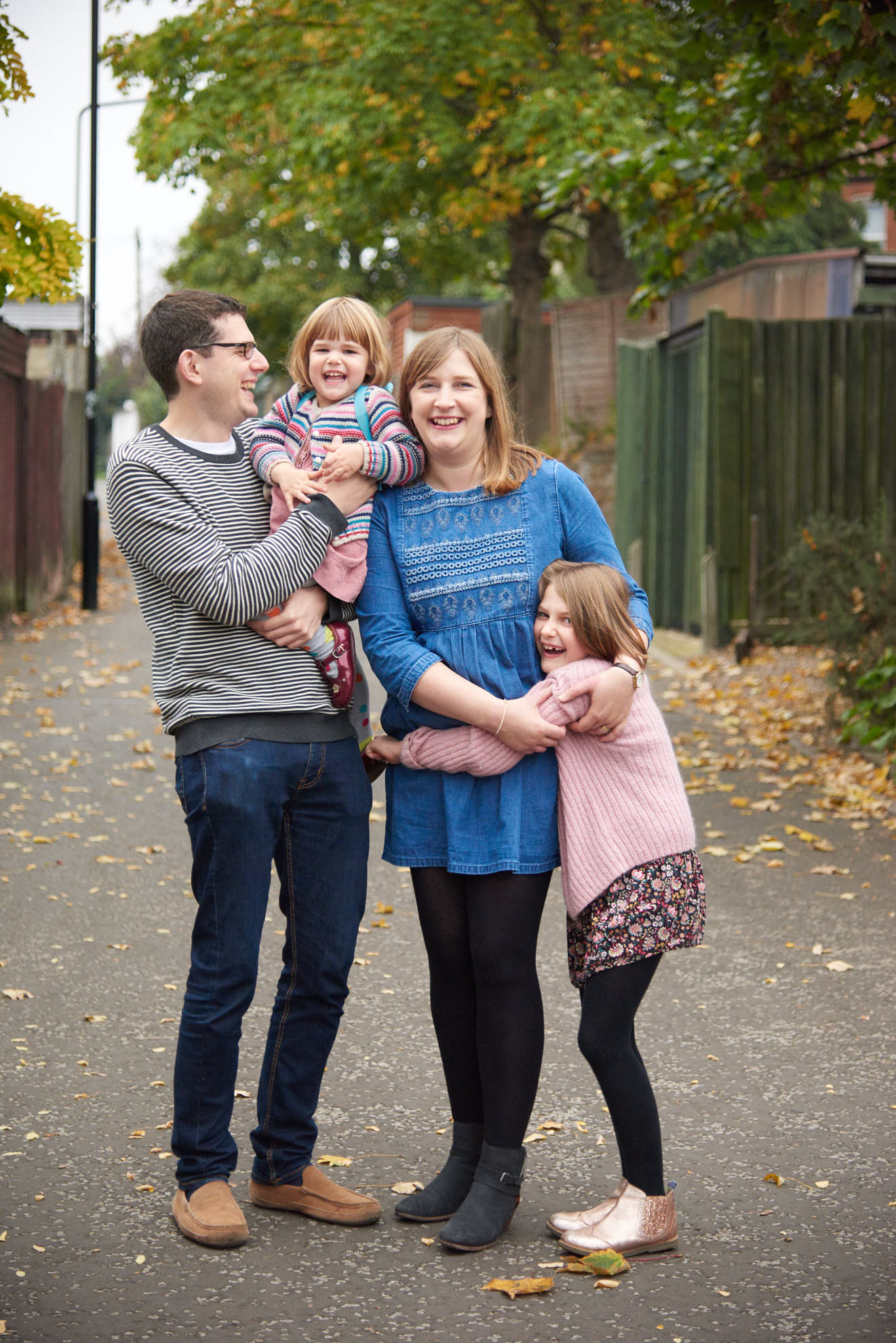 reportage style family photography in London